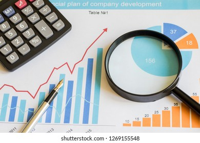 Business diagram document chart statistic magnifier search.