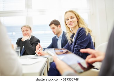 Business discussing a strategy and working together in a meeting
