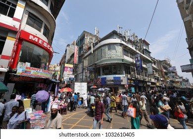 The business district of Colombo in Sri Lanka, 10. December 2017