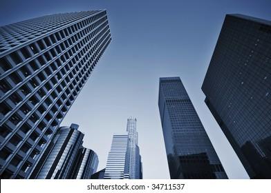 Business district skyline