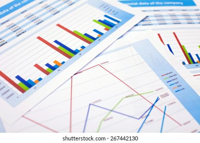 Business document. Financial data of the company