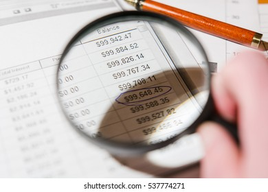 Business documents, analysis of calculation of graphics, chart