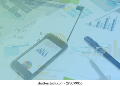 business documents with charts growth, keyboard and pen. workplace businessman