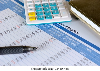 Business documents. Placed on the table with pen