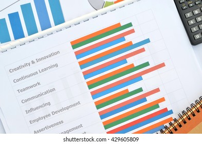 Business documents at workplace,individual competency report for people development.
