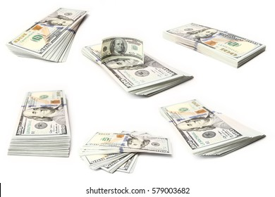 business dollar money on white background