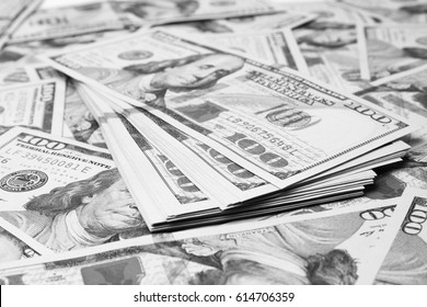 business dollar money on white background
