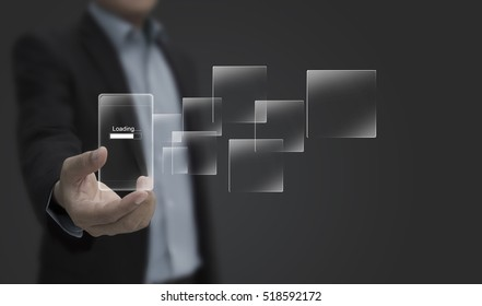 business, education, cloud computing, people and technology concept - close up of male hands smartphone transferring data