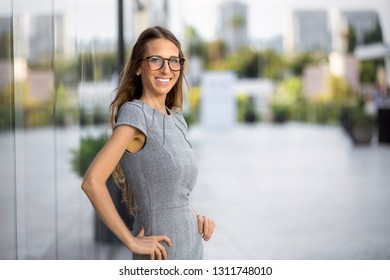 Business entrepreneur standing tall, strong, confident, with healthy ego and personality