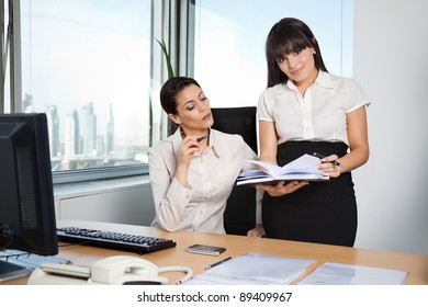 Business executive with personal assistant