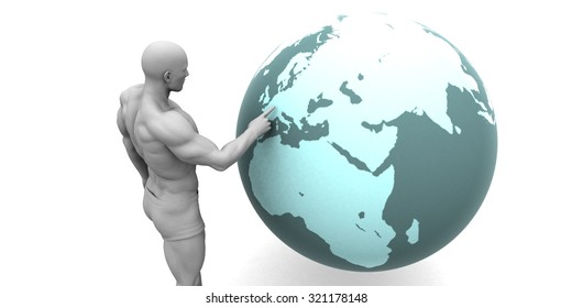Business Expansion into Europe or European Continent Concept