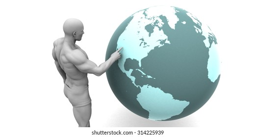 Business Expansion into North America Continent Concept