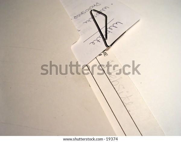 Business file folder with website written on it