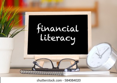 BUSINESS FINANCE OFFICE AND FINANCIAL LITERACY CONCEPT