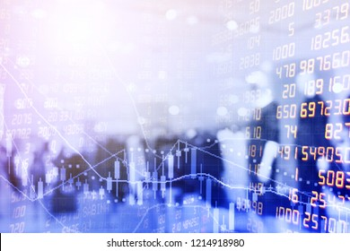 Business and Finance of STOCK exchange market background, Used to advertise , share and invest.finance data concept