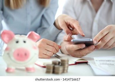 Business financial accounting concept. Family relationship background. Happy family budget. Financial investment bank bill credit.