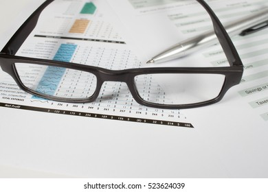 Business of financial analytics on white background.