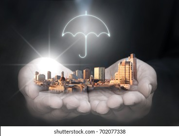 Business financial insurance umbrella protection