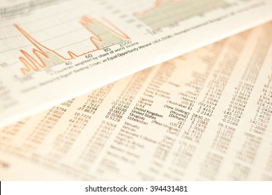 business financial newspaper forecast detail background