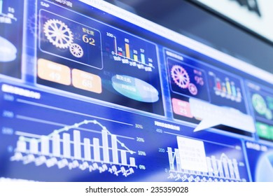 business financial report display on screen
