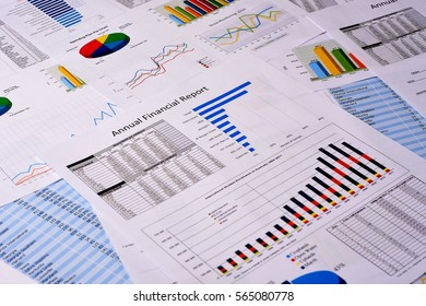 Business Financial Reports on a Desk