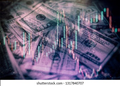 Business financial or stock market background. Business graph on stock market financial exchange