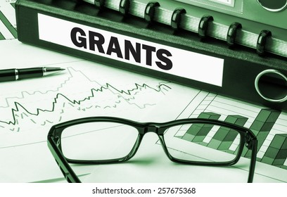 business folder with label grants