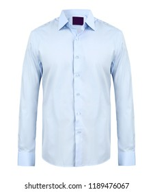 Business or formal shirt, front  view, isolated on white background.