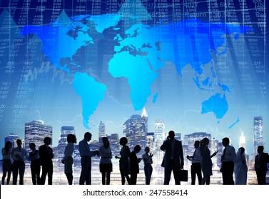 Business Global Cityscape Architecture Building Business Metropolis Concept