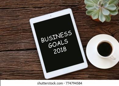 BUSINESS GOALS 2018 Business concepts