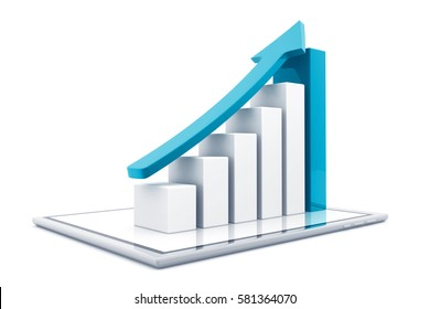 Business graph. 3d render