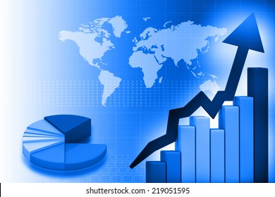 Business Graph background