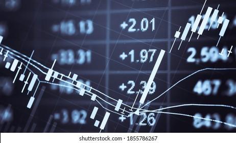 Arrière-plan du graphique d'entreprise: Analyse de la comptabilité d'entreprise sur les fiches d'information. Un homme d'affaires travaille à l'analyse des diagrammes d'investissement pour le marché de l'or, le marché Forex et le marché du pétrole brut.