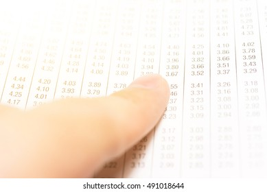 Business graph background.: Analysis business accounting on info sheets. Businessman hand working on analyzing investment charts with pen, glasses and magnifying glass. - Vintage tone.