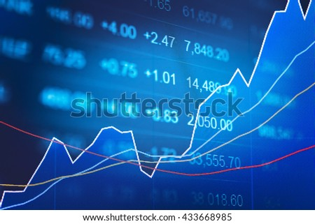 business graph tending stock market data stock photo edit now