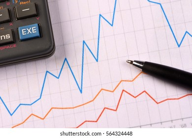 Business Graphic Charts and Calculations