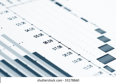 Business graphs background.