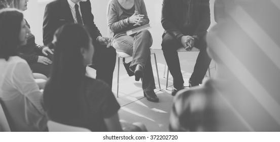 Business Group Seminar Meeting Concept