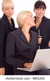 business group of three young women