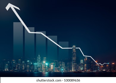 Business growth concept with city scape background