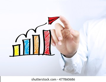 Business growth concept picture for business growth abstract background.