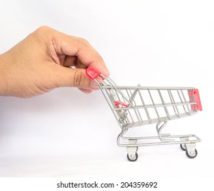 business hand on shopping time