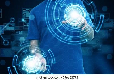 business hand press interface technology
