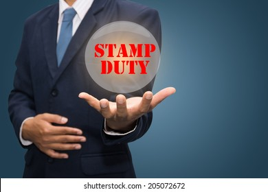 Business Hand Showing STAMP DUTY