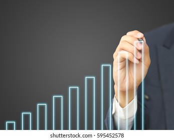 Business hand write growth graph