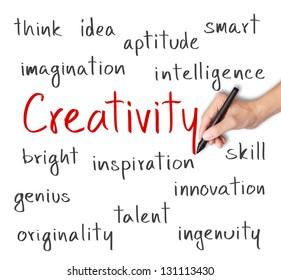 business hand writing creativity concept