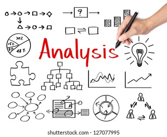 business hand writing data analysis