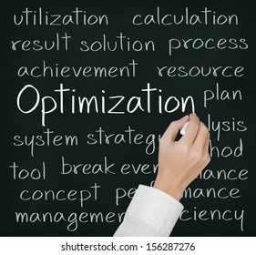 business hand writing optimization concept