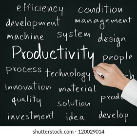 business hand writing productivity concept