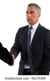 A business handshake